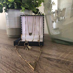 Lucky Brand Antique Goldtone Multi strand Necklace